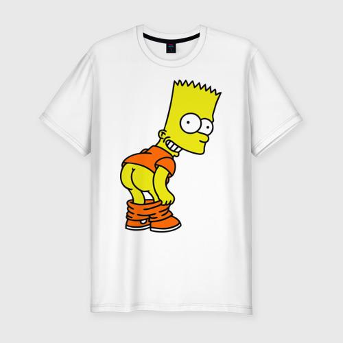 Мужская футболка хлопок Slim Барт Симпсон Simpson