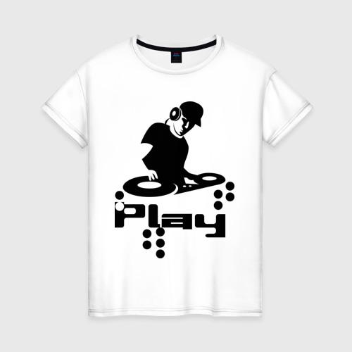 Женская футболка хлопок Диджик играй