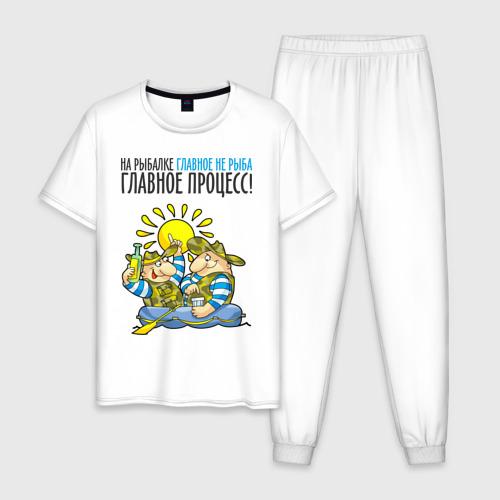 Мужская пижама хлопок На рыбалке главное не рыба (двухсторонняя)