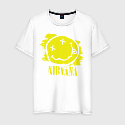 Мужская футболка хлопок смайл NIRVANA