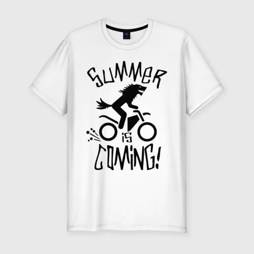 Мужская футболка хлопок Slim лето близко