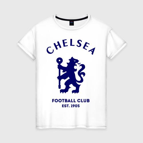 Женская футболка хлопок Челси Футбольный клуб Chelsea