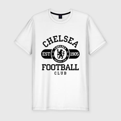 Мужская футболка хлопок Slim Chelsea футбольный клуб