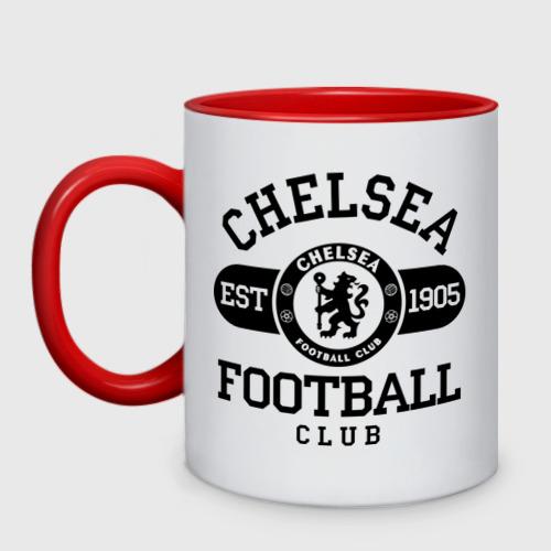 Кружка двухцветная Chelsea футбольный клуб