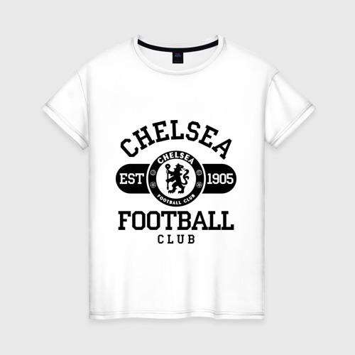 Женская футболка хлопок Chelsea футбольный клуб