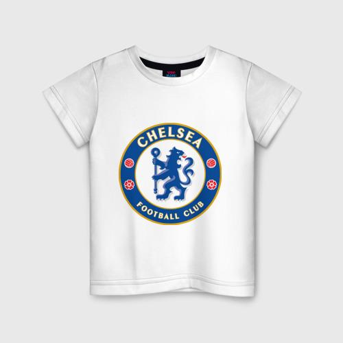 Детская футболка хлопок Chelsea logo