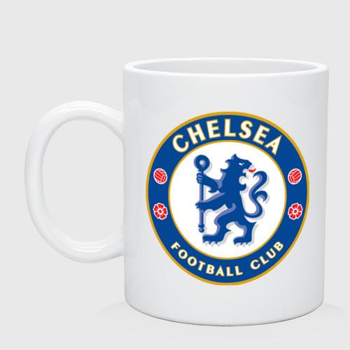 Кружка керамическая Chelsea logo