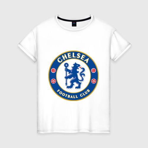 Женская футболка хлопок Chelsea logo