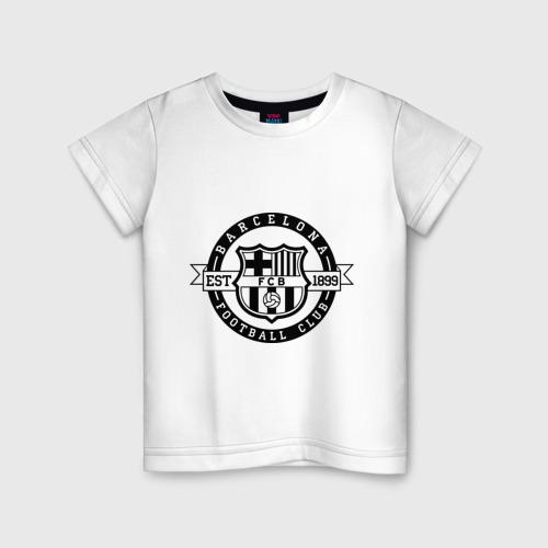 Детская футболка хлопок Barcelona FC