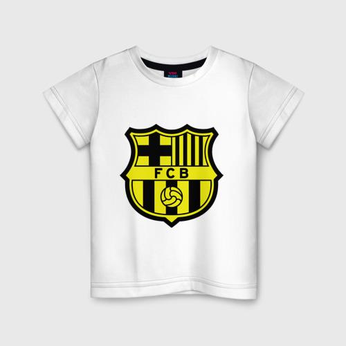 Детская футболка хлопок Barcelona logo