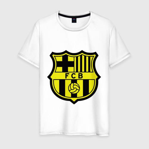 Мужская футболка хлопок Barcelona logo