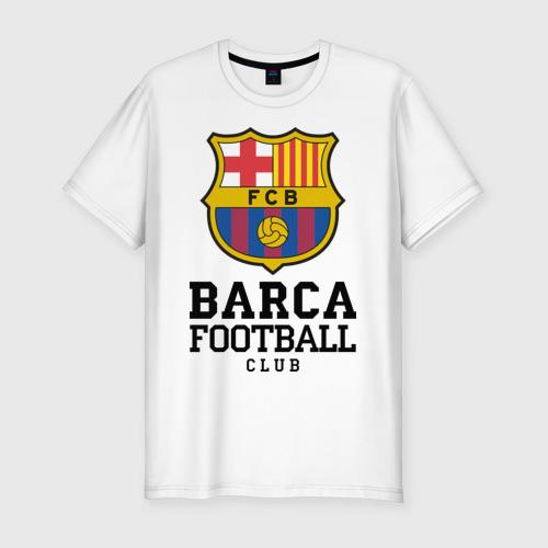 Мужская футболка хлопок Slim Barcelona FC