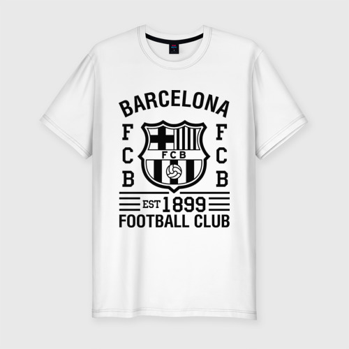 Мужская футболка хлопок Slim FC Barcelona