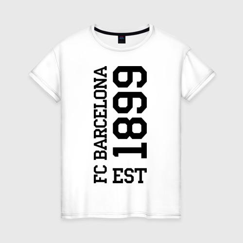 Женская футболка хлопок FC Barcelona 1899