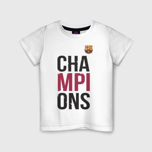 Детская футболка хлопок Champions