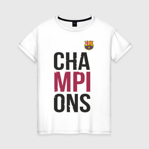 Женская футболка хлопок Champions