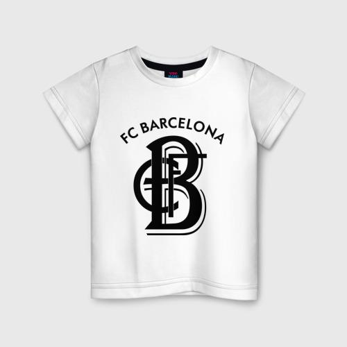 Детская футболка хлопок FC Barcelona