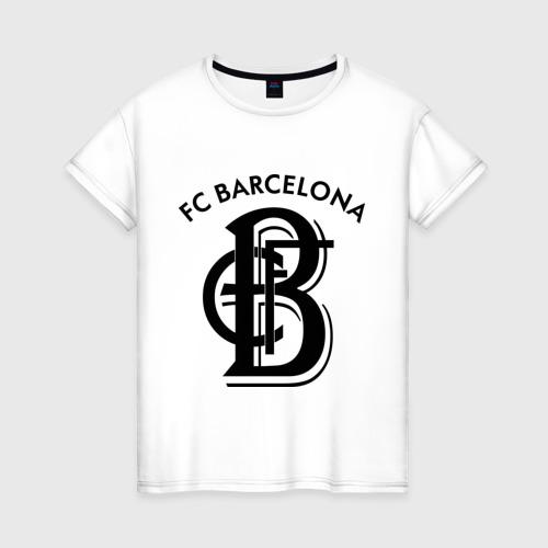 Женская футболка хлопок FC Barcelona