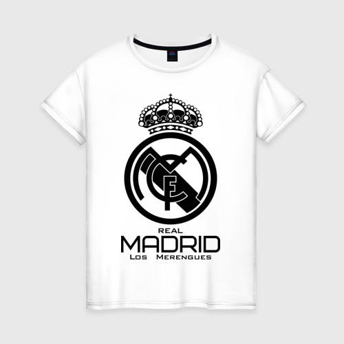 Женская футболка хлопок Real Madrid