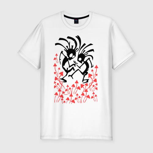 Мужская футболка хлопок Slim Грибочки