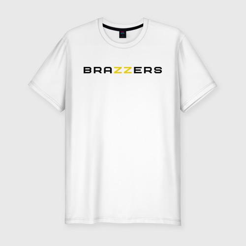 Мужская футболка хлопок Slim Brazzers