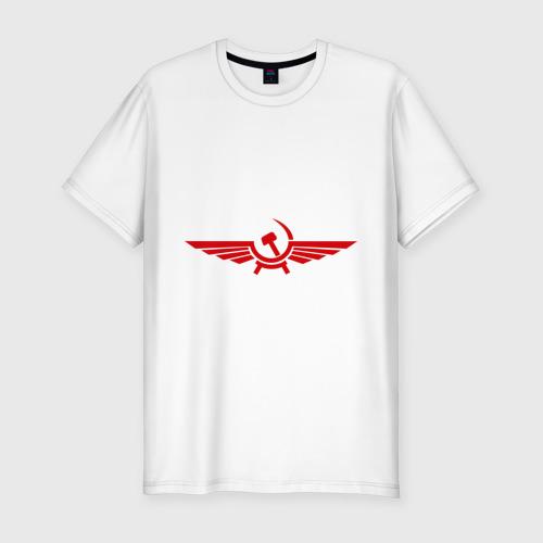 Мужская футболка хлопок Slim Серп и молот в виде орла
