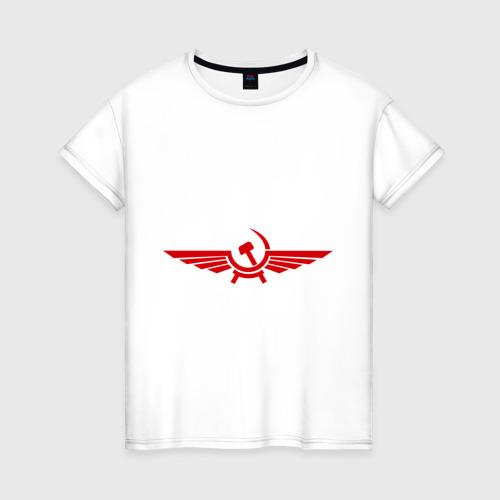 Женская футболка хлопок Серп и молот в виде орла