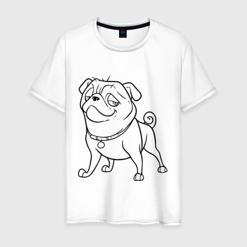 Мужская футболка хлопок Мопс