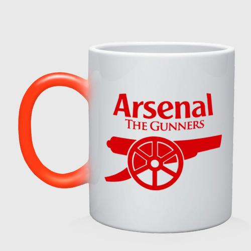 Кружка хамелеон Arsenal
