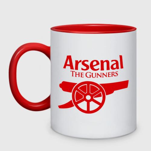 Кружка двухцветная Arsenal