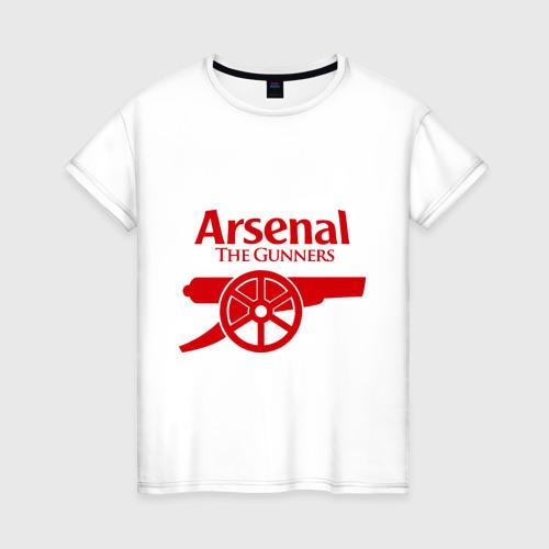 Женская футболка хлопок Arsenal