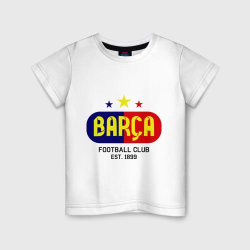 Детская футболка хлопок Barcelona Football club