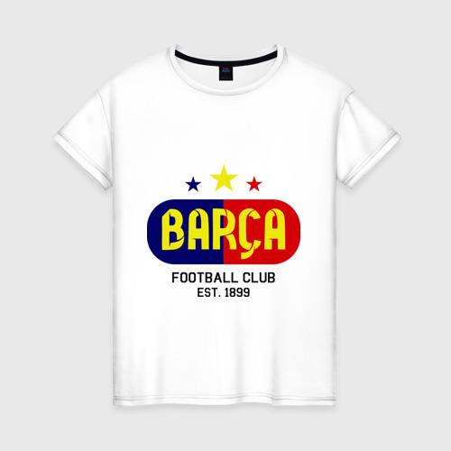Женская футболка хлопок Barcelona Football club
