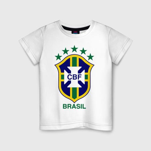 Детская футболка хлопок Сборная Бразилии по футболу