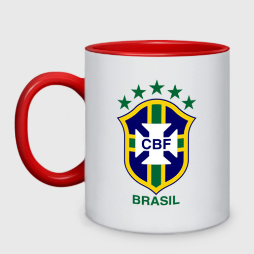 Кружка двухцветная Сборная Бразилии по футболу