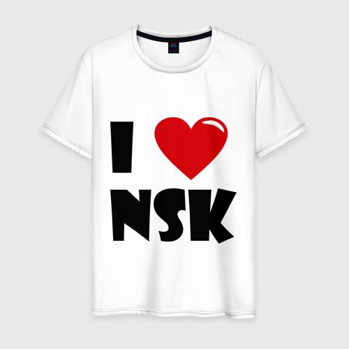 Мужская футболка хлопок I LOVE NSK