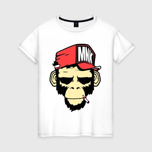 Женская футболка хлопок Monkey Swag