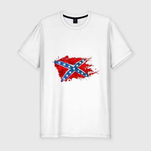 Мужская футболка хлопок Slim Конфедерация брызги
