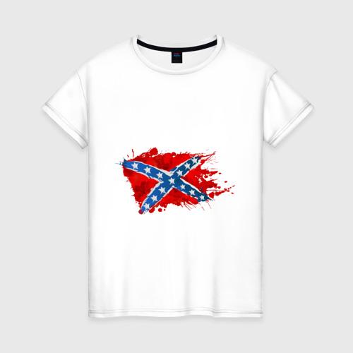 Женская футболка хлопок Конфедерация брызги
