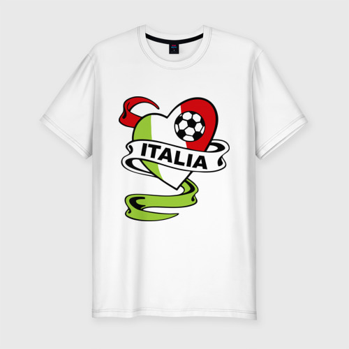 Мужская футболка хлопок Slim Сборная Италии по футболу
