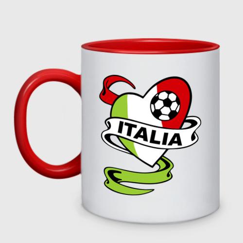 Кружка двухцветная Сборная Италии по футболу