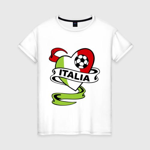 Женская футболка хлопок Сборная Италии по футболу