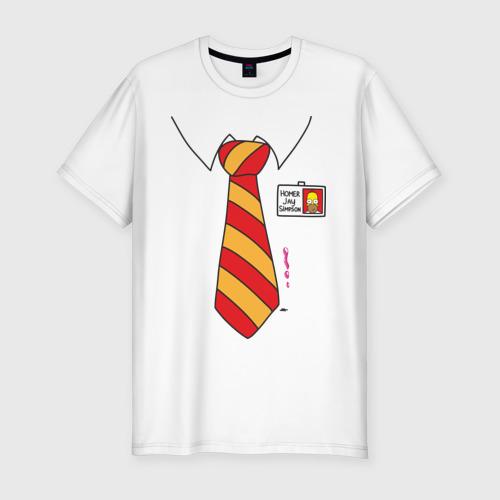 Мужская футболка хлопок Slim Костюм Гомера
