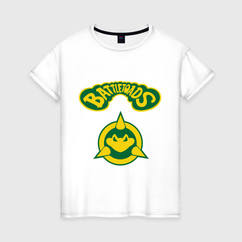 Женская футболка хлопок Боевые Жабы