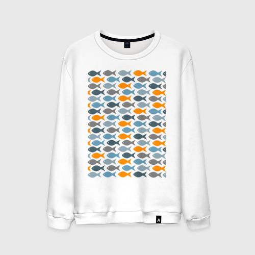 Мужской свитшот хлопок Рыбки