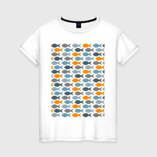 Женская футболка хлопок Рыбки