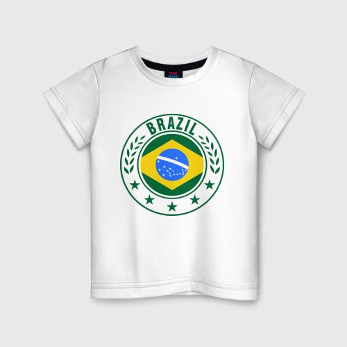 Детская футболка хлопок Brazil - Бразилия ЧМ-2014