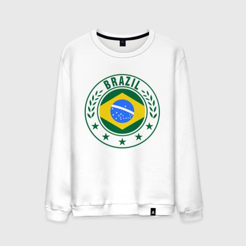 Мужской свитшот хлопок Brazil - Бразилия ЧМ-2014