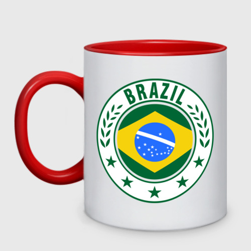 Кружка двухцветная Brazil - Бразилия ЧМ-2014