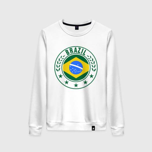 Женский свитшот хлопок Brazil - Бразилия ЧМ-2014